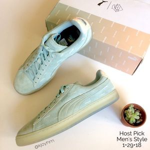 ff01f4f2d28c Puma Shoes - HP🎉PUMA Suede v2 Pink Dolphin sneakers